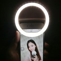 USB Rechargeable battery 4 levels selfie light Led Camera Phone Photography Ring Light Enhancing Photography for iPhone Samsung