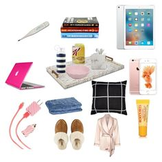 """""""Sick day essentials"""" by sarahbear112 on Polyvore featuring Kate Spade, Vista Alegre, Waterworks, Speck, ban.do, JAG Zoeppritz, UGG Australia, Burt's Bees and Agent Provocateur"""