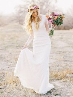 Cheap long sleeve wedding dress, Buy Quality sleeve wedding dress directly from China wedding dress Suppliers: 2016 Beach Boho Bridal Wedding Gowns Sweetheart Sheath Bohemian Style Lace Country Long Sleeves Wedding Dresses Bohemian Style Wedding Dresses, Modest Wedding Dresses, Wedding Dress Styles, Bridal Dresses, Wedding Gowns, Lace Wedding, Mermaid Wedding, Wedding Tips, Wedding Bride