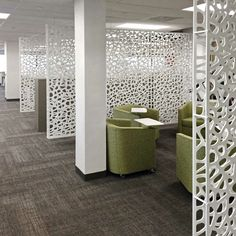 Hanging room divider screens, double layer PVC screen partitions for office. Custom made to order.