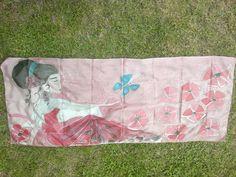 jedwabny szal ręcznie malowany mojej mamy