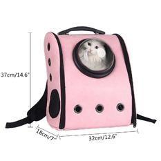 321e0e5504 Leegoal Pets Travel Front Carrier Bag Backpack Small Net Bag(Pink, S,  28*18CM )