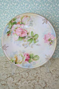 Gorgeous Antique Prussia Royal Rudolstadt Decorative Plate