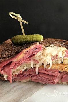 Steak and Cheese Sandwiches Recipe Beautiful Traditional Reuben Sandwich Cheese Sandwich Recipes, Reuben Sandwich, Reuben Dip, Steak And Cheese Sub, Reuben Recipe, Homemade Italian Meatballs, Canning Refried Beans, Crockpot Recipes, Cooking Recipes