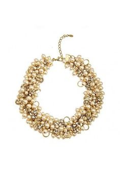Simply stunning, these #pearl strands make an oh-so-posh #statement, the Park Avenue Necklace in gold or multi-colored! #SwellCaroline