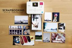 In collaboration with Canon USA, today I'm excited to share how I'm keeping up on my scrapbooking while I'm traveling. This can be quite challenging as I filled my suitcases to the maximum weight limit, but I did pack a.
