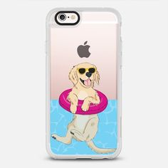 Casetify iPhone 7 Case and Other iPhone Covers - Swimming Golden Retriever by Megan Roy | #Casetify