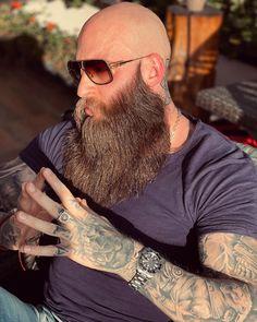 Bald Men With Beards, Bald With Beard, Beard Wash, Beard Model, Beard Grooming, Awesome Beards, Beard Styles, Life Tattoos, Moustache