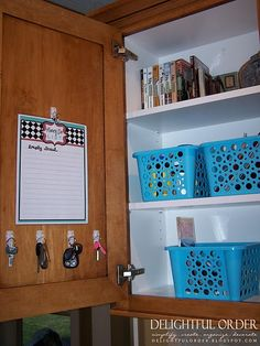 kitchen command center....oh i wish i were this organized!!