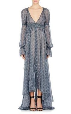 PHILOSOPHY DI LORENZO SERAFINI Floral Button-Front Gown. #philosophydilorenzoserafini #cloth #gown
