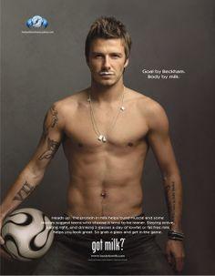 David Beckham - so not sporting a milk mustache, but that's OK 'cause I barely noticed. Sexy SO sells that pic. David Beckham, Got Milk Ads, Victoria Beckham, Raining Men, My Guy, Gorgeous Men, Just In Case, Sexy Men, Hot Men