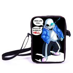 260d9bb95db7 Undertale Mini Small Messenger Bag Sans Papyrus Kids School Bags Boys Girls Bags  Children Bookbag