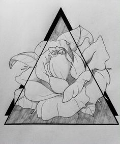 Triangles and rose tattoo - drawing..... From Jade >…