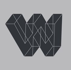 The letter w. This is the part of a letter series done by Zachary Spurling   #letters # letter #lettering #handlettering #design #graphicdesign #graphicdesigner #type #typography #customtype #letterform #type design