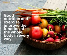 Good #nutrition and #exercise can #benefit your whole #body!
