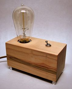 That is, if i ever find someone who'll make these things with me....The Menlo Park Lamp Single Edison Bulb in Maple by TheDapperLlama