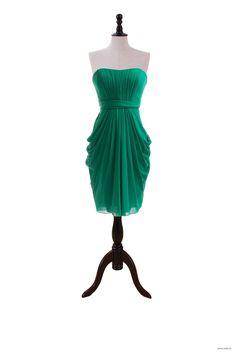 wedding styles Strapless Short Chiffon Dress For Bridesmaids $117.98
