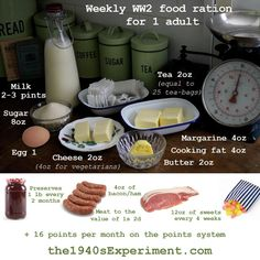 The Experiment – Cooking up Wartime Recipes to Save Money & Lose 100 lbs in Weight! War Recipe, Wartime Recipes, Food Rations, Cooking Cheese, Depression Era Recipes, Survival Food, Camping Survival, Emergency Preparedness, Survival Skills