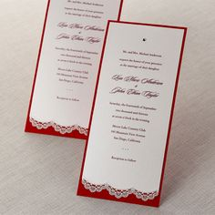 Lace Trimmed Couture Wedding Invitations