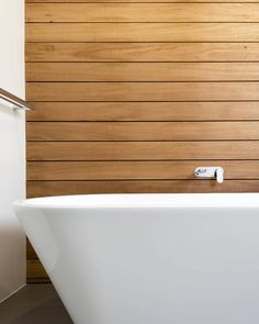 """""""Bath Detail from our 'white house' project. We love working with black butt timber #DLC #design #construct #blackbutt #architecture #building #newhome…"""""""
