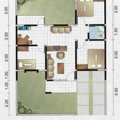 12 x 9 Dream House Plans, Modern House Plans, Small House Plans, House Floor Plans, Minimalist House Design, Minimalist Home, Affordable Bedroom Sets, Relax House, Type 45