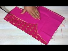 pattern fancy blouse / saree pattern blouse - YouTube Blouse Neck Designs, Blouse Styles, Sewing Blouses, Fashion Blouses, Designer Blouse Patterns, Sari Blouse, Stitching, Nail Art, Fancy