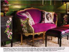 A fuchsia velvet couch for my dressing room someday... ~ETS