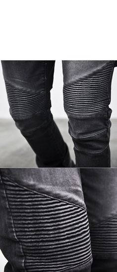 Bottoms    Jeans    Washed Black Designer Skinny Biker-Jeans 84 - Mens Fashion  Clothing For An Attractive Guy Look 4a2bc707cc7