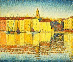 Paul Signac: Maisons du Port, Saint-Tropez, 1892