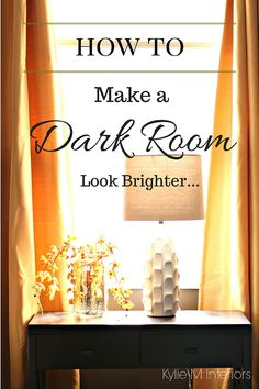 How to Make a Dark Room Feel Brighter It seems that almost every home has that one room that is dark, dull and depressing. For some this might be the bedroom and for others it might be the living room, but for MOST people - it's the basement / family room. What can make a room dark?   Northern exposure Not enough artificial light Not enough natural light (no matter what the exposure is) due to small windows or no windows Low ceilings Heavy drapes Overhangs outside the window such a...
