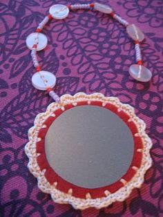 PUIKKO HUKASSA Washer Necklace, Safety, Crafts, Crochet, Jewelry, Security Guard, Manualidades, Jewlery, Jewerly