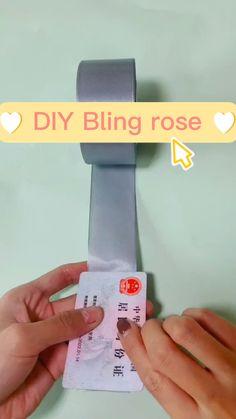 Diy Crafts Hacks, Diy Crafts For Gifts, Diy Home Crafts, Diy Arts And Crafts, Paper Flowers Craft, Paper Crafts Origami, Flower Crafts, Diy Flowers, Diy For Kids