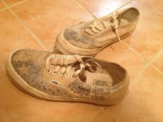 White Authentic with dirt from rock fest
