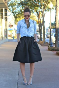 "Top 21 Divine Examples of Denim Outfits ""Spring 2014"" - Style Motivation"