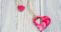 This beautiful polymer clay mother and child heart necklace is perfect for valentines or mothers day or as an expression of unconditional love