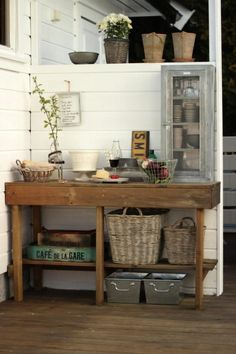 This is Beate Hemsborg's outdoor kitchen. Simple, yet beautiful and practical. We love it!