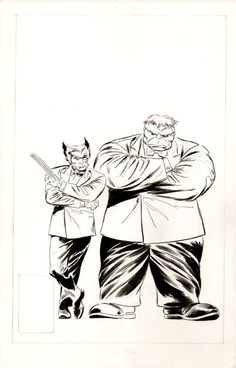 Buscema - Wolverine #8 cover (first unpublished version)  Comic Art