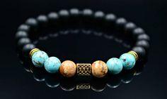 Men's Turquoise Bracelet Jasper Bracelet Beaded Bracelet Stretch Bracelet Onyx Bracelet Gemstone Bracelet Gift for Men Elastic Bracelet Gemstone Bracelets, Handmade Bracelets, Bracelets For Men, Turquoise Beads, Turquoise Bracelet, Bracelet Designs, Stone Beads, Stretch Bracelets, Gemstones