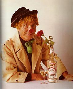 Harpo Marx for Smirnoff, by Bert Stern. Harpo Marx, Groucho Marx, Steve Allen, Woody Allen, Joseph Cotten, Bert Stern, Julie Newmar, Eartha Kitt, Johnny Carson