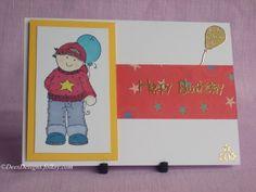 Birthday Card, Boy with Balloon £1.75