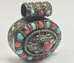 Women's 925 sterling silver turquoise men's pendants jewelry vintage pendant #Unbranded #Pendant