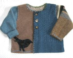Felted Toddler Sweater LOGAN made from recycled materials 469