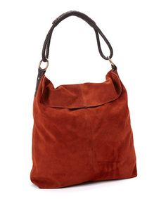 Rust colored suede hobo