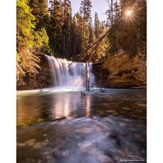 """""""Johnston Canyon, Canada _________________________ Photo tips; 1. One of the biggest things that sets a """"good""""'photographer apart is what they show. Trust me, I take many, many terrible photos but I do my best to only post the best of them. Being selective may mean that you post less but quality over quantity applies here.  2. For shooting waterfalls use a polarizer to cut through the glare on the water. Bonus: it also cuts out about to stops of light and helps you get a longer exposure for…"""