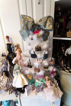 1/6 scale purse tree in the actual doll room.... credit:  insidethefashiondollstudio.com