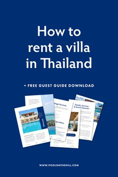 How to rent a villa in Thailand? Get your guest guide for The Pool on the Hill – a 16-page PDF filled with everything you need to know about renting this 5-bedroom villa in Koh Samui Thailand. Download your copy now at: www.poolonthehill.com
