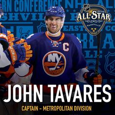 Congratulations John Tavares On Being Named Captain Of The Metropolitan  Division NHL All Star Team! 462b2b196