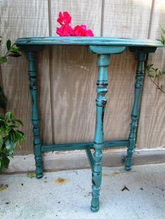Tiffany Blue Three Legged Table ANTIQUE :) http://twicelovedvintagetlv.com/