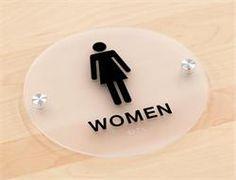 Bathroom Signs Silver stylish restroom signs ada braille - wood bathroom signs | signs