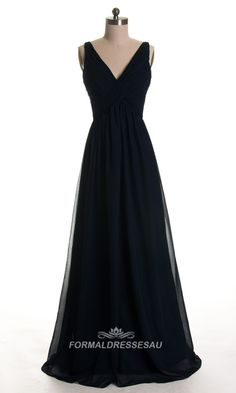 Flowy Chiffon Formal Dresses with V Neck FDA0102